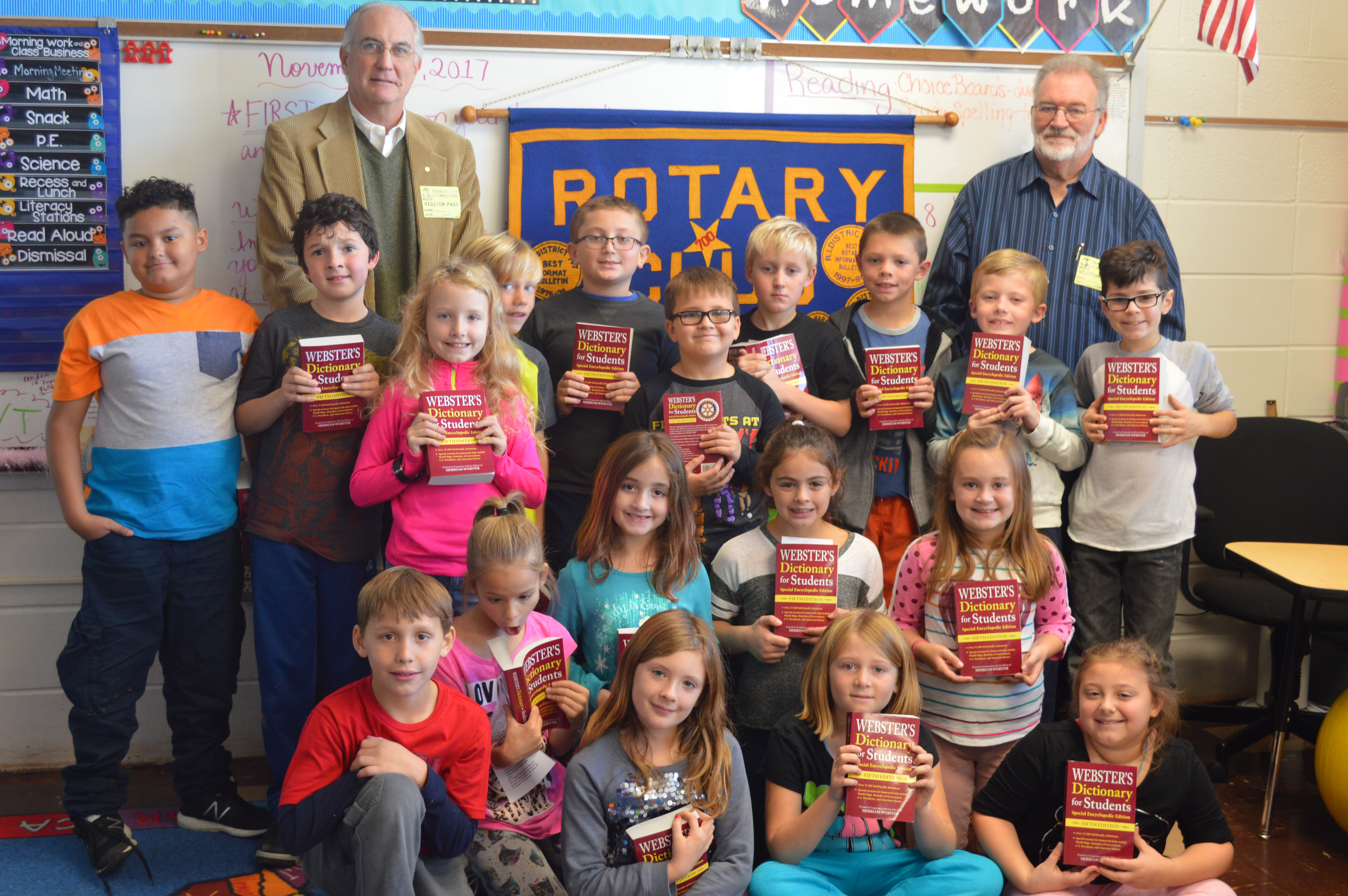 Belvidere Rotary visits 3rd grade