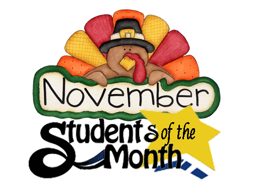 November 2020 - Students of the Month