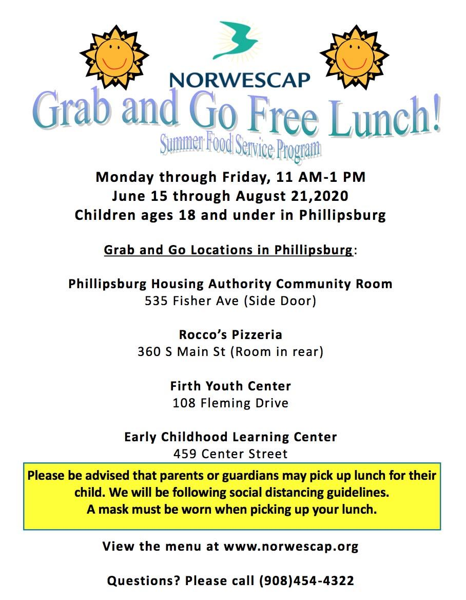 NORWESCAP Grab and Go Free Lunch - Summer Food Service Program