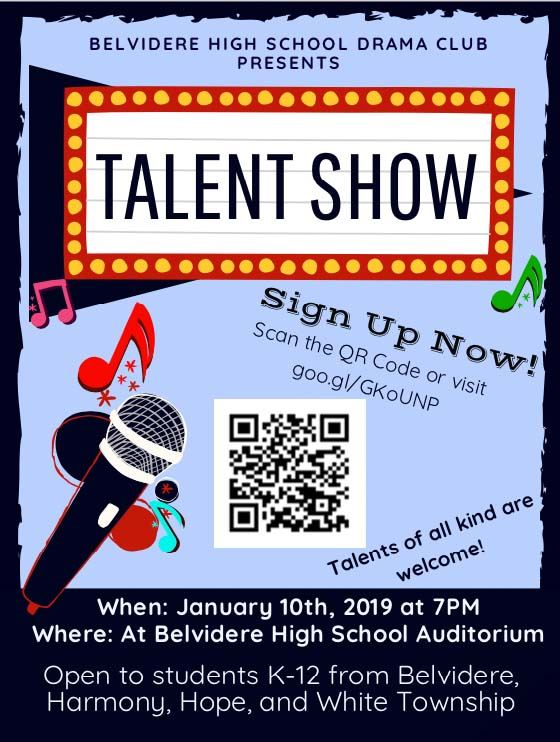 Community Talent Show hosted by Belvidere School District Drama Clubs