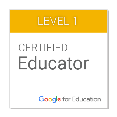 Ms. Smith is a Google Certified Educator